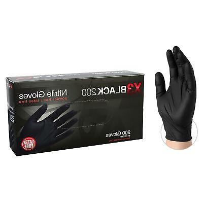 bx3d black nitrile industrial latex free disposable