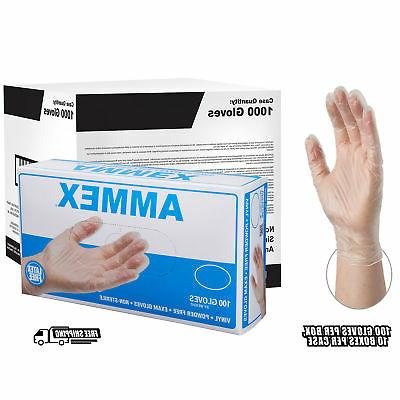 clear medical vinyl exam latex free disposable