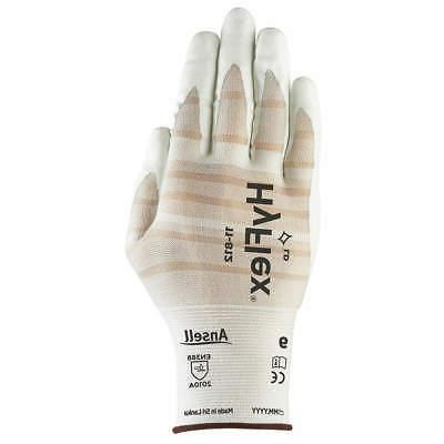 coated gloves nitrile size 9 white pr