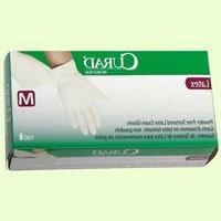Medline CUR8107 Powder-Free Latex Exam Gloves, X-Large, 90/B