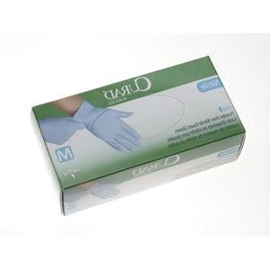 Medline CUR9316 Nitrile Exam Glove  Powder-Free  Large  150/