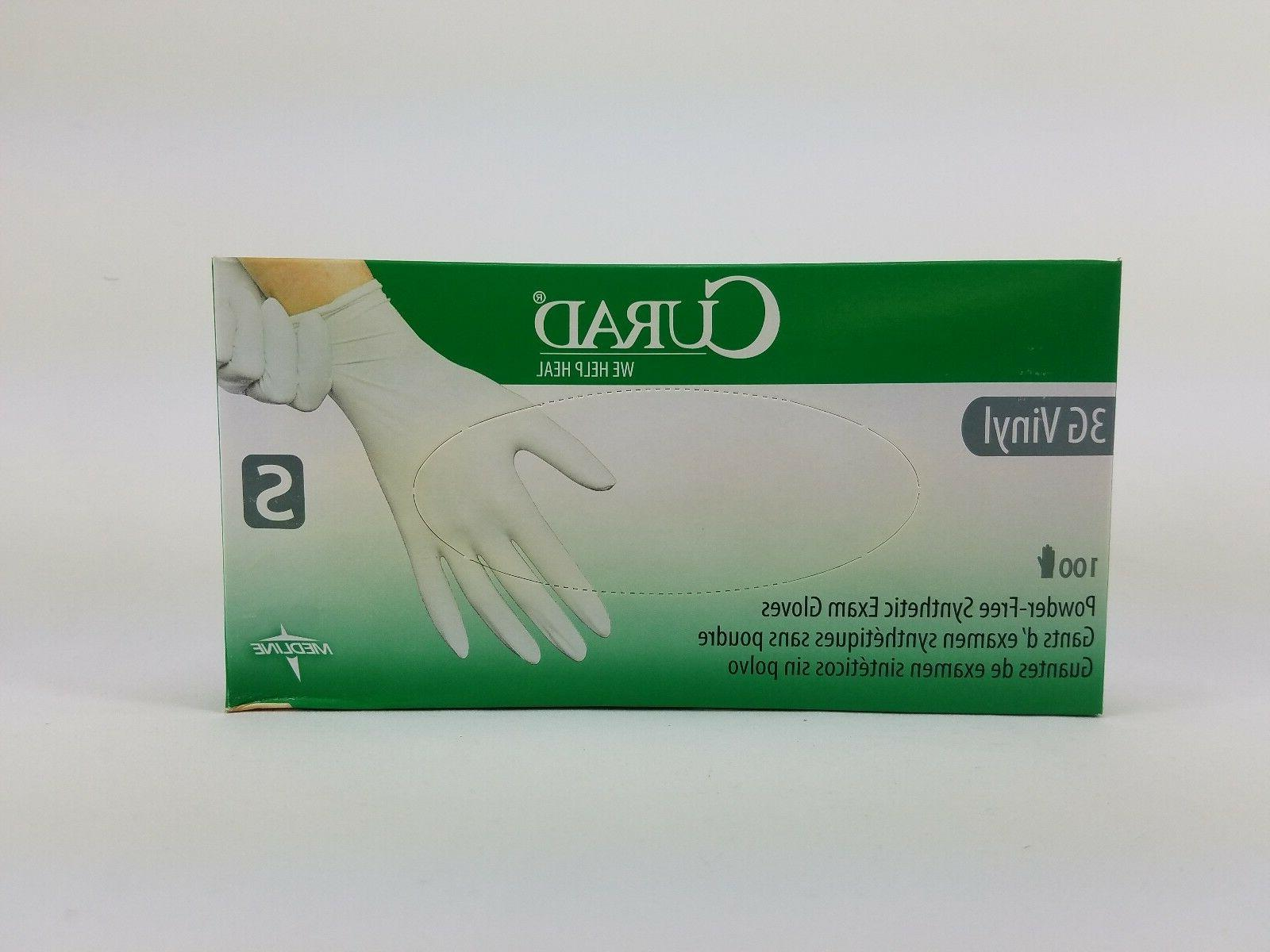 Curad® CUR8234 Latex 3G Vinyl Exam Gloves Powder-Free Sz Sm
