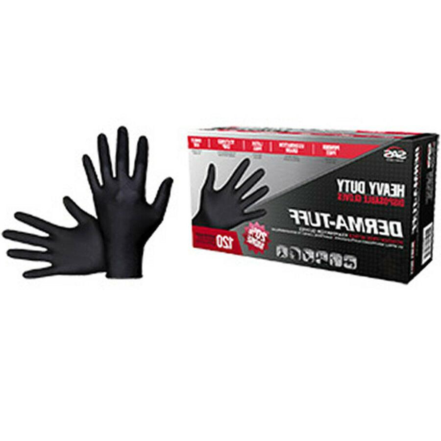 derma tuff black nitrile gloves 6mil 120ct