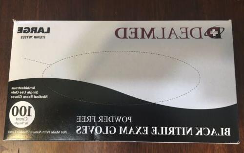 disposable black nitrile exam powder