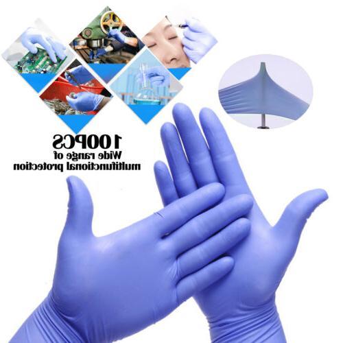 100 Disposable BLUE L XL Powder Latex