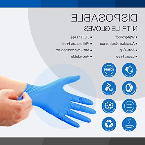 LANON Nitrile Gloves Latex Free Medical Grade Anti-microorganisms, Textured, Ambidextrous, Non-sterile, FDA Approved, Count