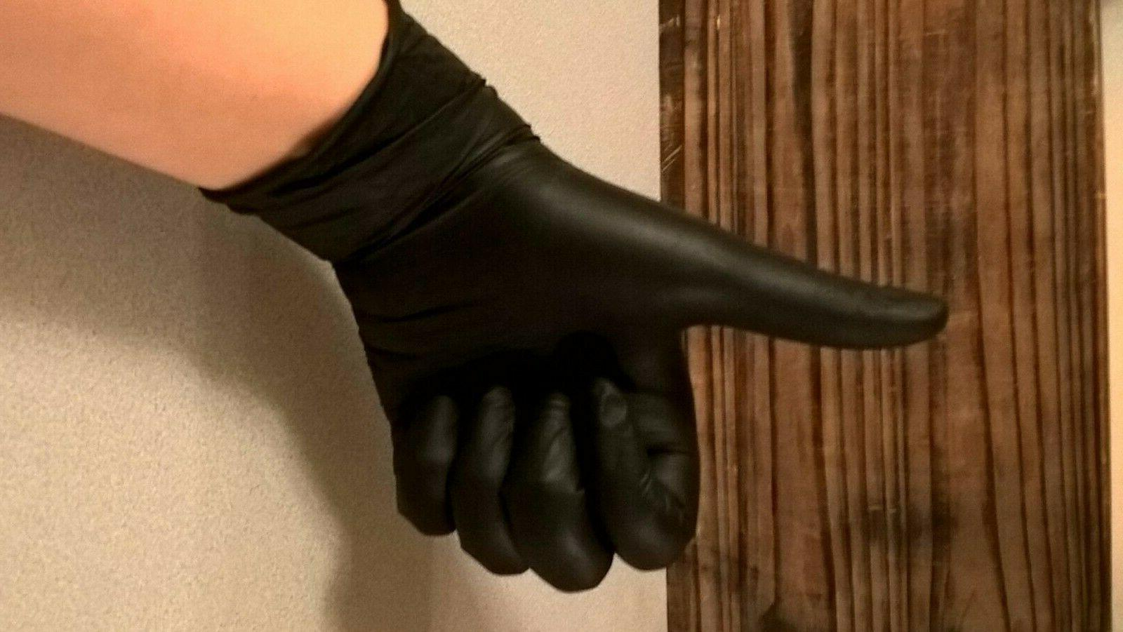 Disposable Gloves Slip Black