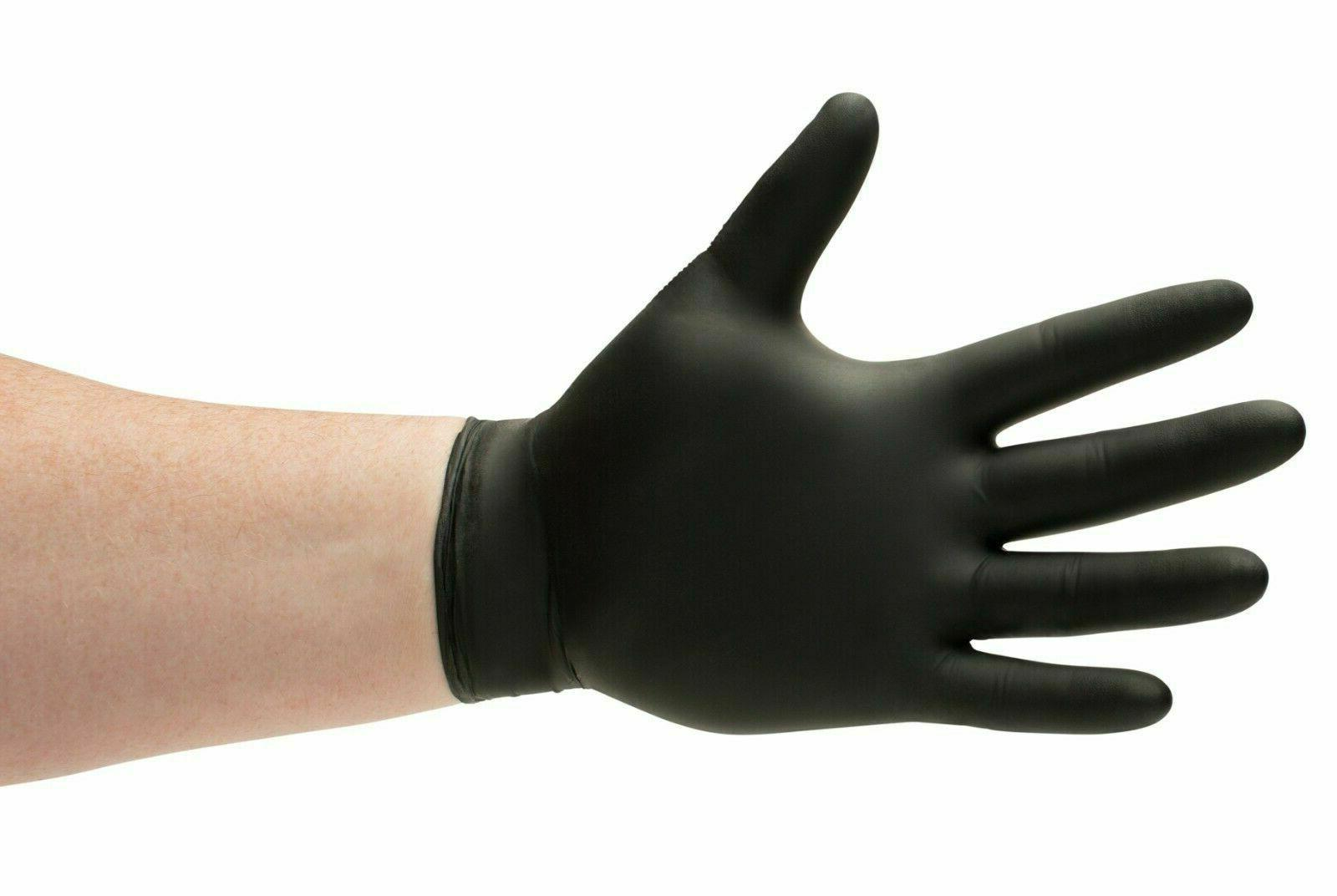 4 mil black nitrile medical gloves powder