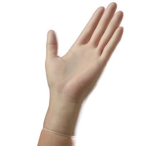 disposable vinyl powder exam gloves