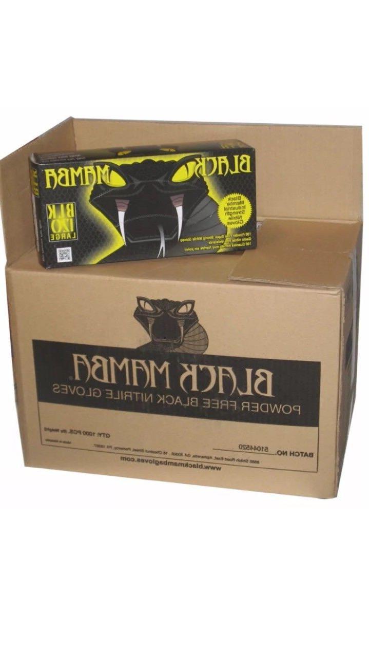 Black Mamba disposal Nitrile gloves 100 per box LARGE BLK 12