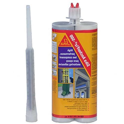 Epoxy Adhesive Applicator, oz. Dual 25:1 AWF AnchorFix 500: Two Epoxy,