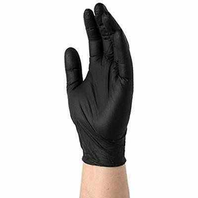SupplyMaster Gloves Black Nitrile 4 Large