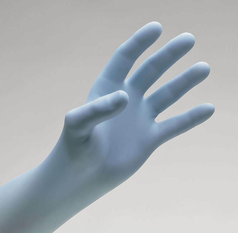 Exam Nitrile Gloves Latex Non-Sterile, Box of 100 - yo