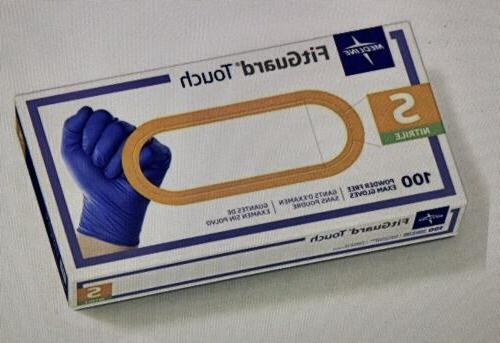 Medline FitGuard Touch Nitrile Exam Gloves Powder-Free Small