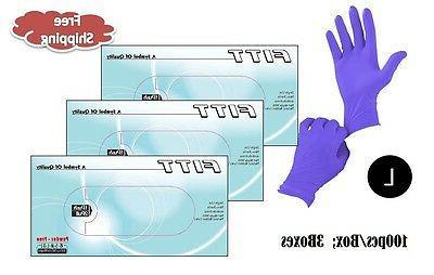 fitt nitrile powder free gloves large 300pcs