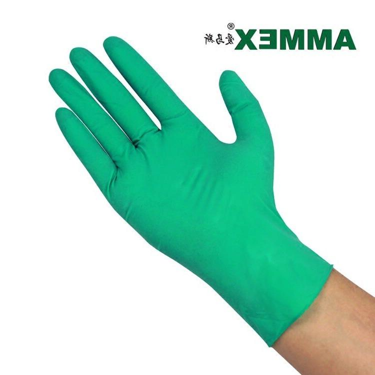 <font><b>AMMEX</b></font> <font><b>Nitrile</b></font> Thick Durable Laboratory Oil Resistant Food <font><b>Gloves</b></font>