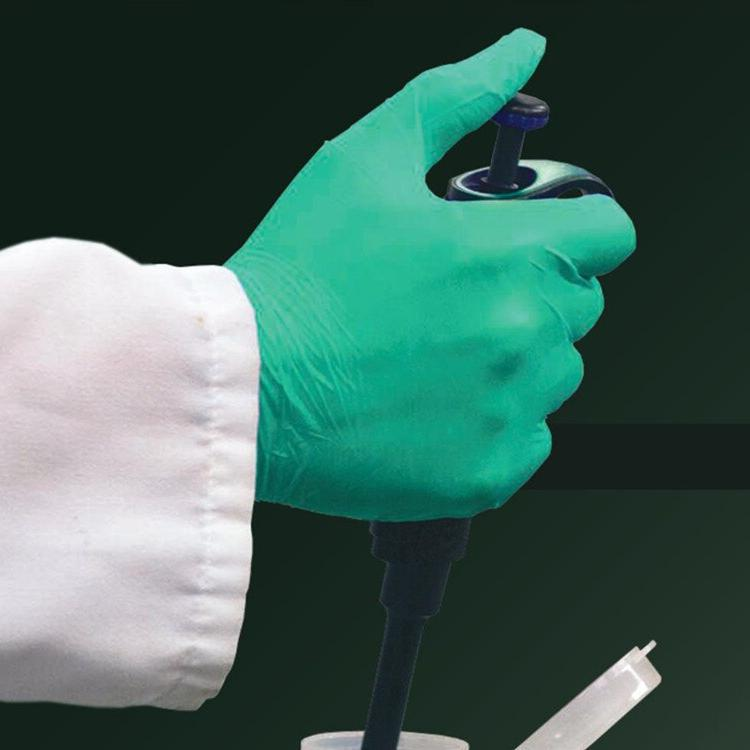<font><b>AMMEX</b></font> <font><b>Nitrile</b></font> <font><b>Gloves</b></font> Thick Green Laboratory Resistant Food <font><b>Gloves</b></font>