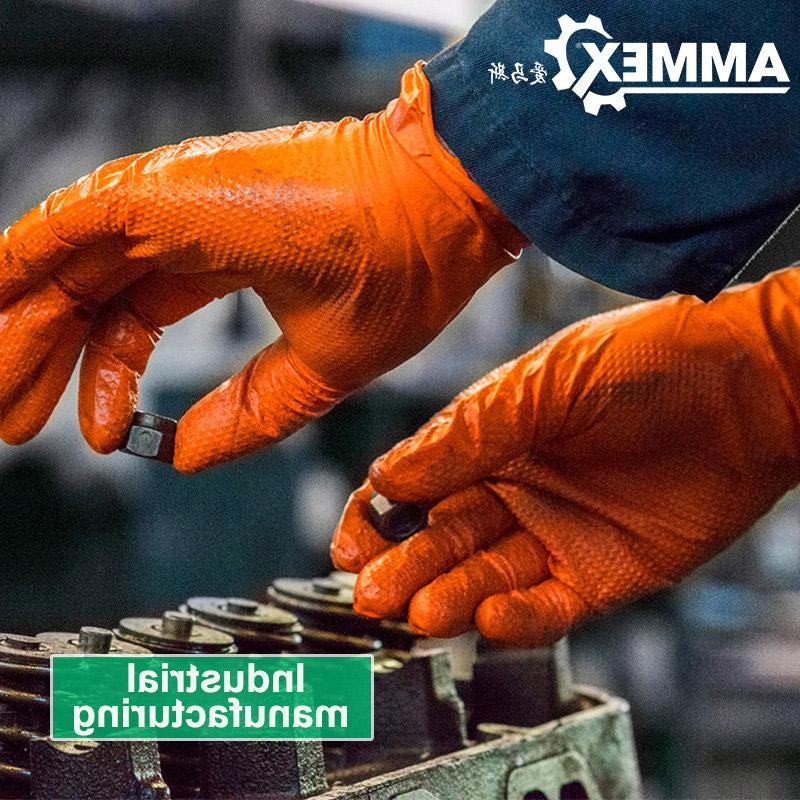 <font><b>AMMEX</b></font> Thicken <font><b>Glove</b></font> Work Disposable Non-slip Safety Mechanical