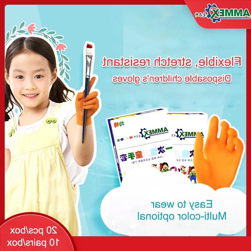 <font><b>AMMEX</b></font> Kids <font><b>Gloves</b></font> Protective Safety <font><b>Nitrile</b></font> Multipurpose Non-Slip