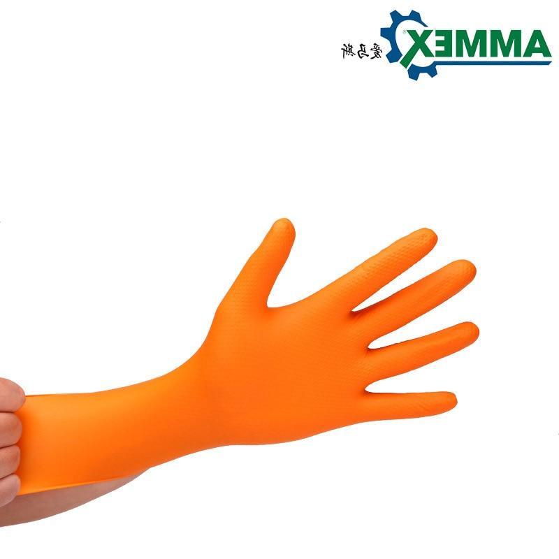 <font><b>AMMEX</b></font> Thicken <font><b>Nitrile</b></font> Work <font><b>Gloves</b></font> Disposable Safety