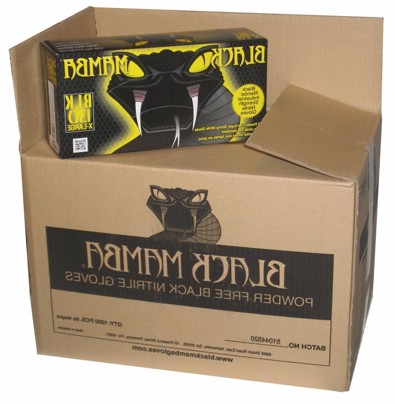 Black Mamba Glove Nitrile Disposable HVAC Utility Heavy Duty