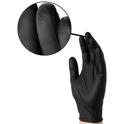 1000/cs GlovePlus Black Nitrile Latex Disposable Gloves