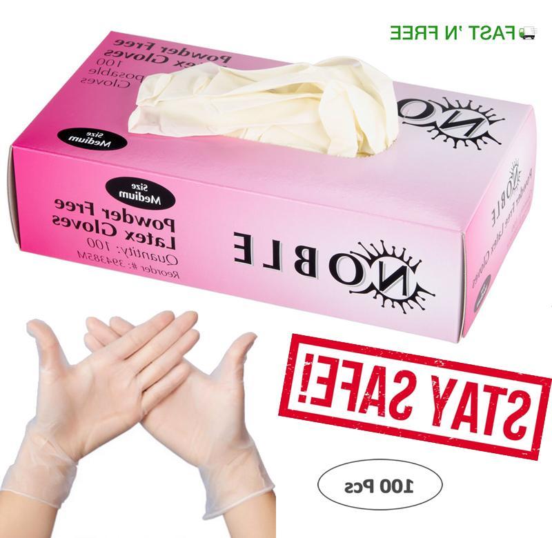 gloves 100 pcs latex nitrile free powder