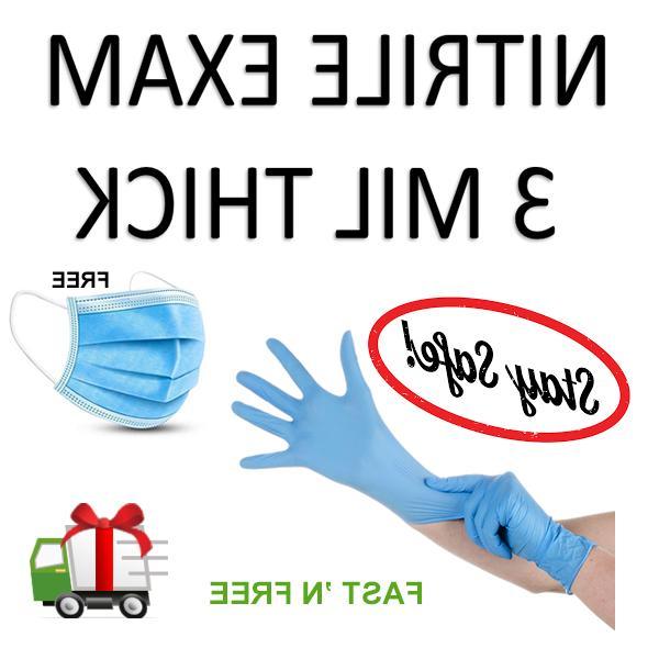 gloves 100pcs vinyl nitrile powder free large