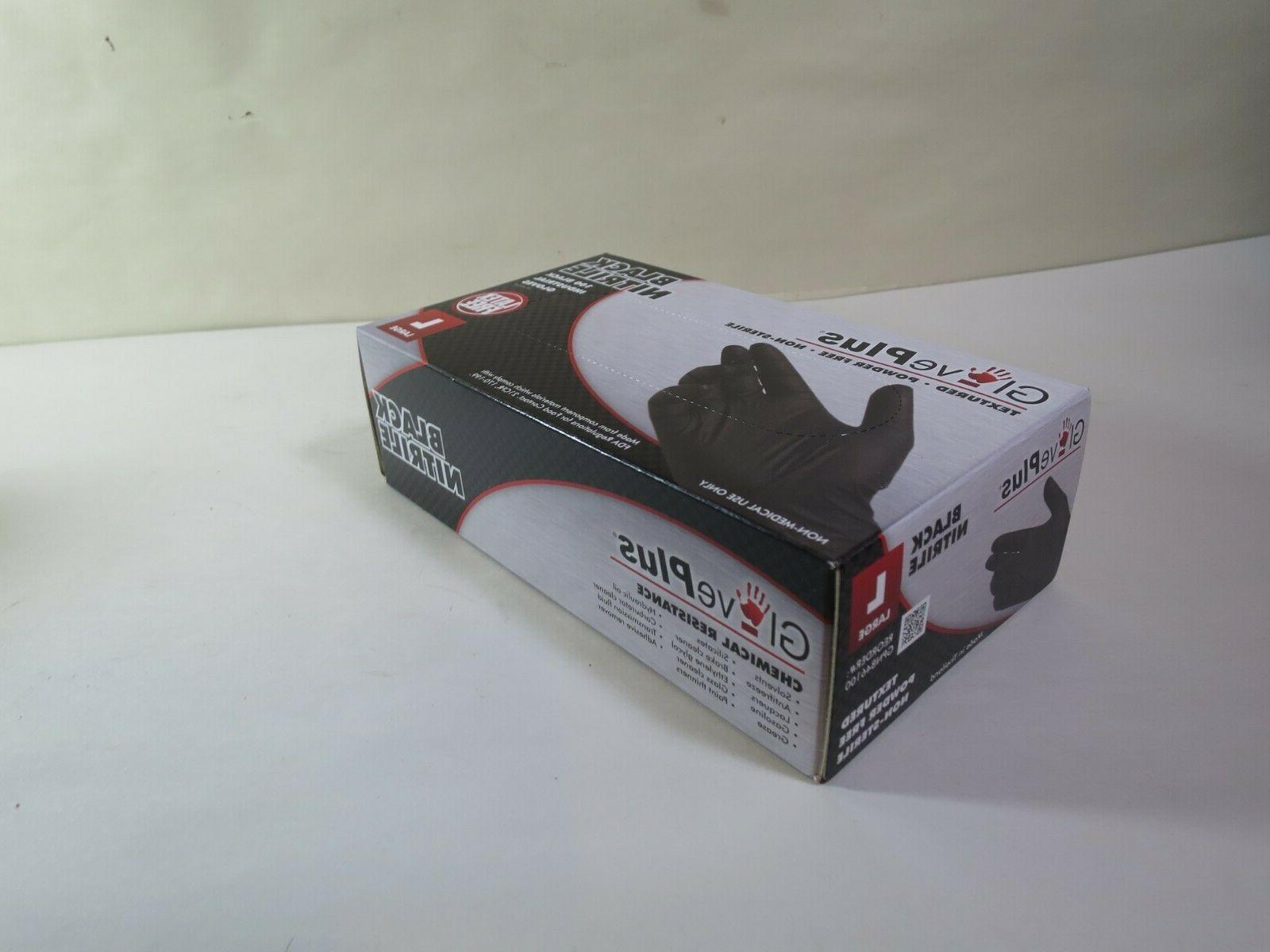 Gloves Black Large Polymer