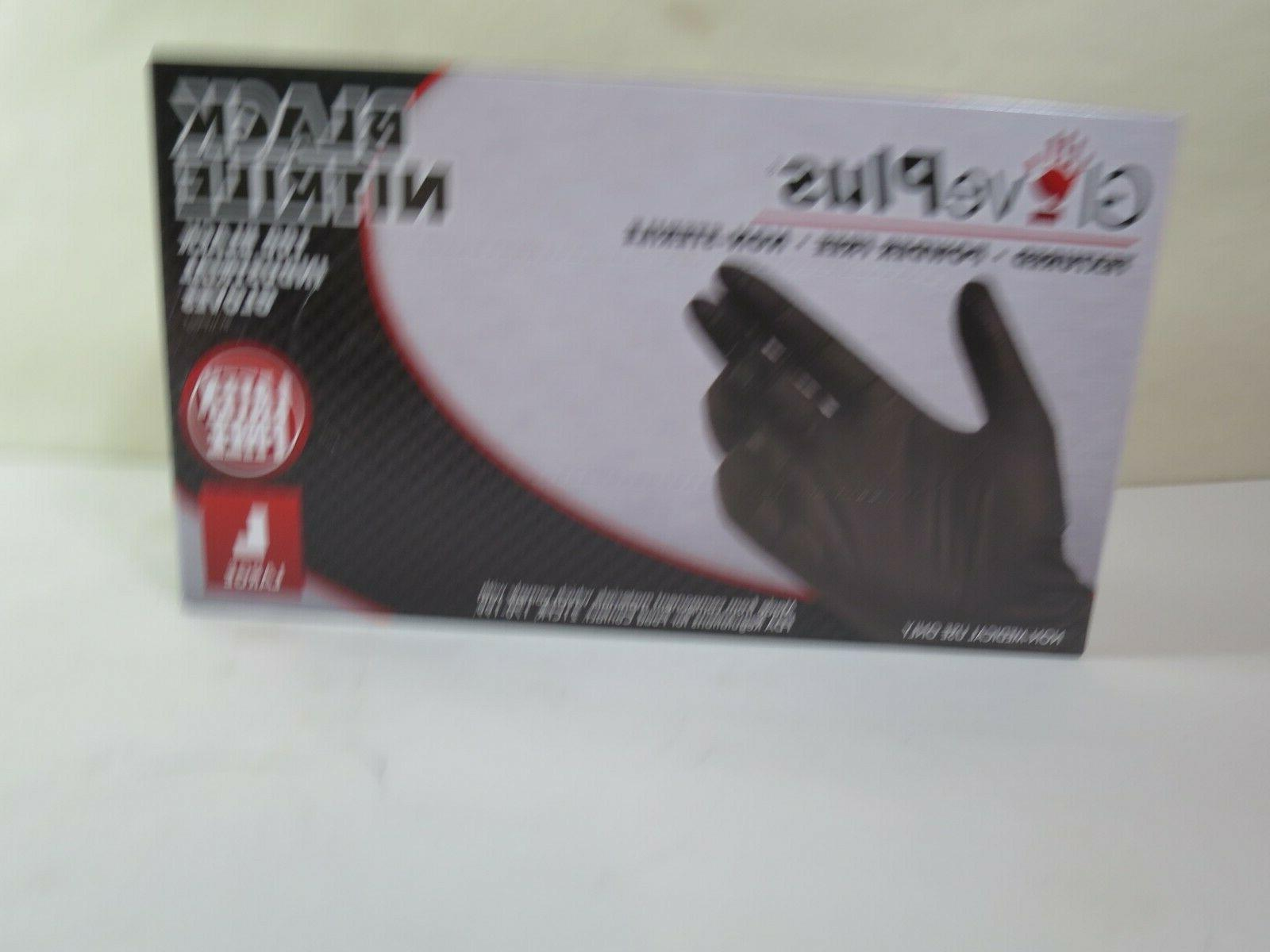 Gloves Black Large Latex Polymer Coated