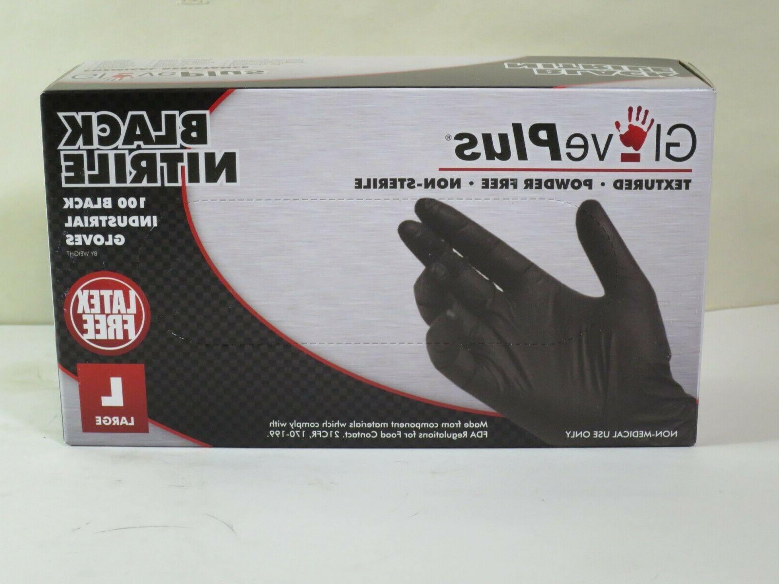 Gloves Black Nitrile Large Latex Textures Polymer