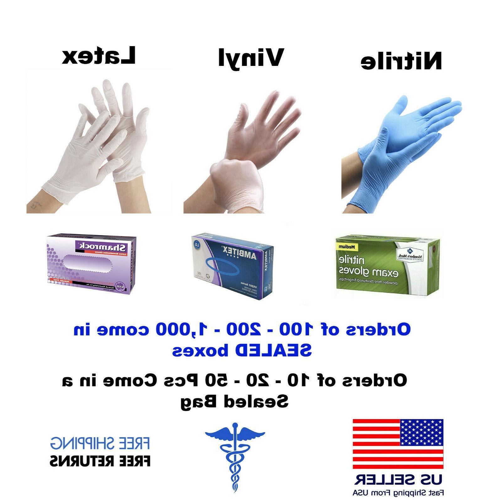 GLOVES -100 - VINYL + {S-M-L-XL}