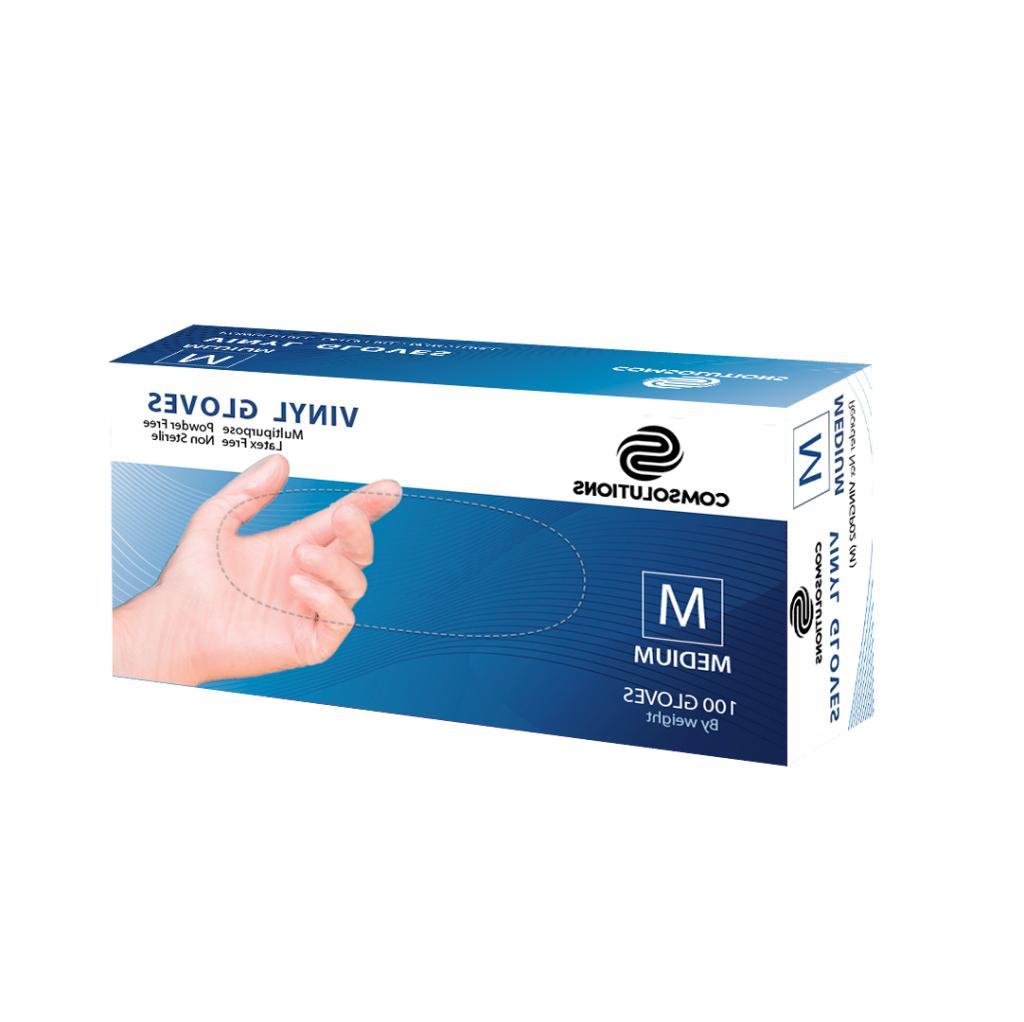 GLOVES NITRILE -100 - + POWDER {S-M-L-XL}