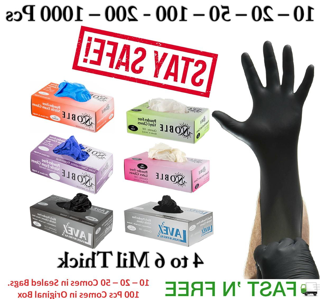 GLOVES NITRILE 10-20 -100- POWDER FREE TO 6 THICK
