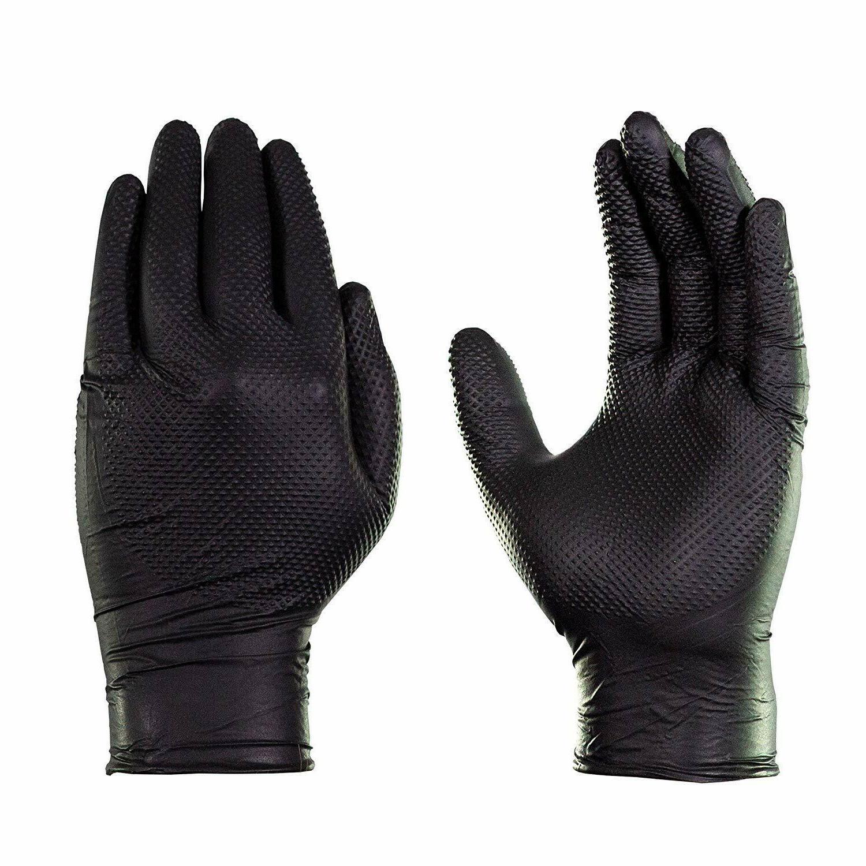 1000/cs GLOVEWORKS Mil Free Nitrile Gloves Black