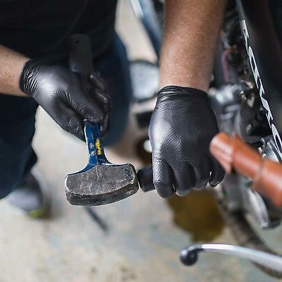 1000/cs GLOVEWORKS Mil Nitrile Gloves Black