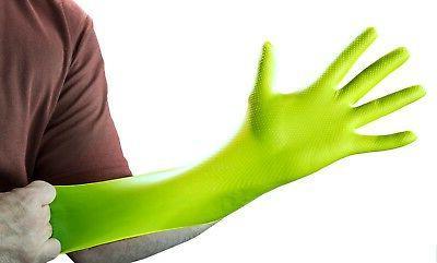 GLOVEWORKS Green Nitrile Latex Disposable Gloves