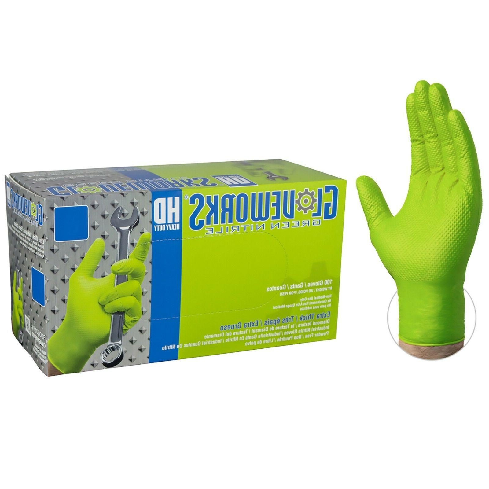 1000/cs Industrial Free Gloves - Green