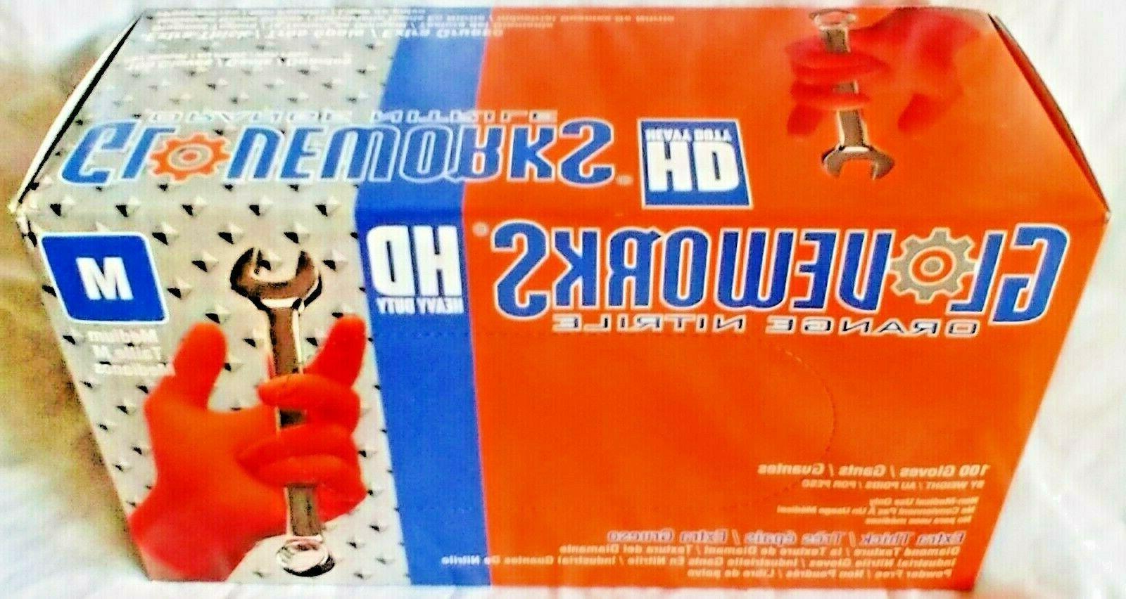GloveWorks HD Green Latex Powder Free