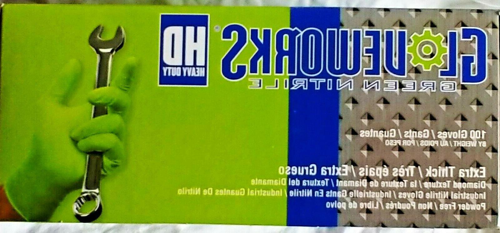 GloveWorks Green Latex Industrial Powder Free M-XXL