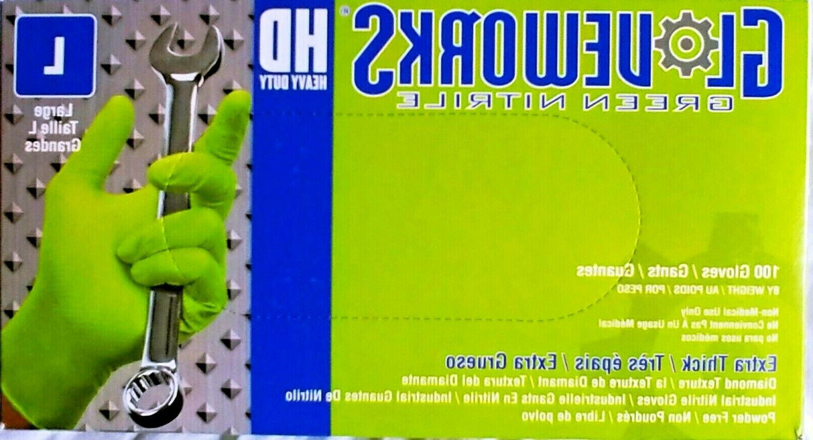 gloveworks hd green nitrile latex free industrial