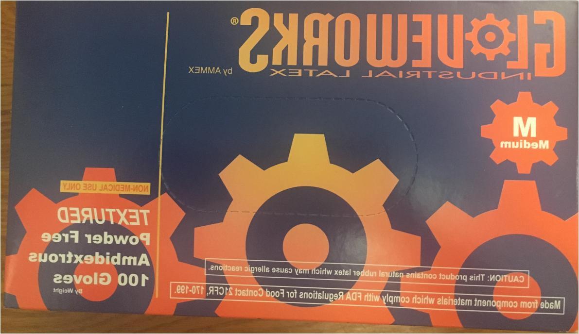 AMMEX Gloveworks Nitrile White Latex Gloves Powder Free size