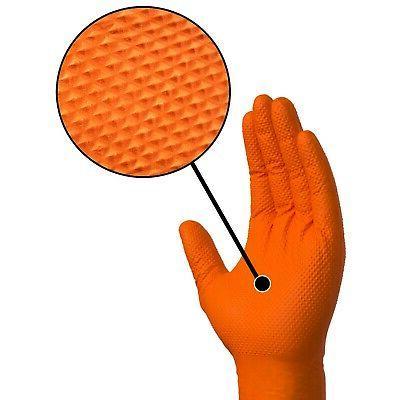 Ammex Gloveworks Orange Gloves- 100/ct GWON48100