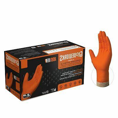 gloveworks orange nitrile industrial latex free disposable