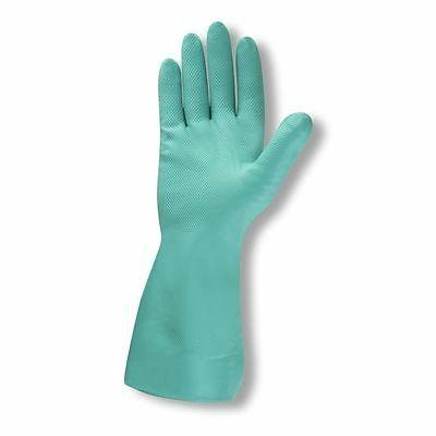 green nitrile size 9 chemical resistant gloves