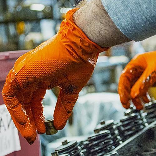 AMMEX Nitrile Gloveworks, Powder Free, Free, Orange