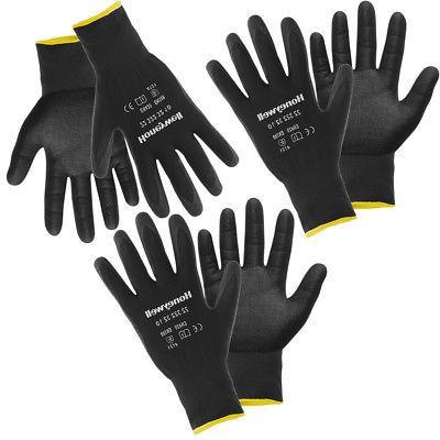 3 Pairs Honeywell Nitrile Tough Work Gloves, Mens Work Glove