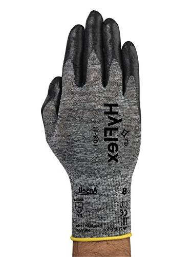 Ansell 11-801 Glove, Nitrile Coating, Knit Wrist Large, Size 9