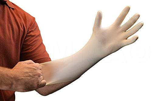 AMMEX - Latex Gloves - - Industrial, Ivory