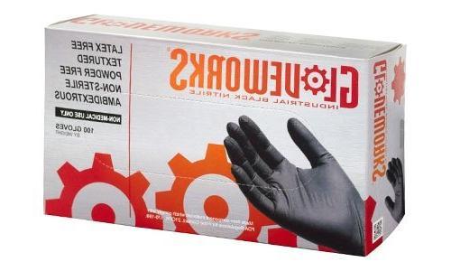 AMMEX - ILHD49100-BX - Latex Gloves - Gloveworks - Disposabl